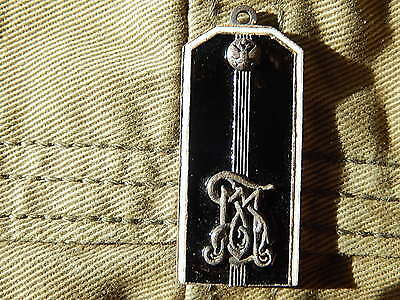#8 Russian Imperial Army Epaulet Pendant Enamel Military Badge Sterling Silver