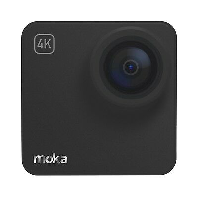 Mokacam 4K/1080P Action Camera with Waterproof Case Black Basic Bundle