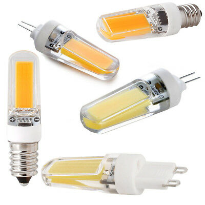 Dimmable G4 G9 E12 E14 9W Crystal LED Corn Bulb COB Light Replace Halogen Lamp