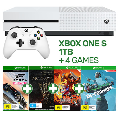 Xbox One S 1TB Console + 4 Games - Xbox One - BRAND NEW