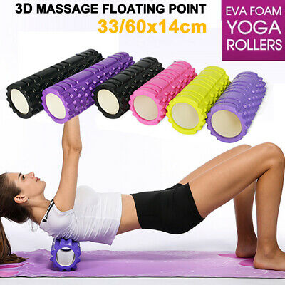 Foam Roller Physico Grid Massage Muscle Relax Yoga Gym Fitness 33x14cm