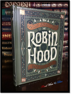 Merry Robin Hood by H. Pyle New Sealed Illustrated Leather Bound Gift Hardback