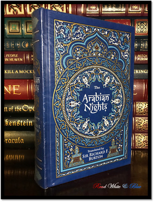 The Arabian Nights Richard Burton Illustrated Sealed Leather Bound Gift Hardback