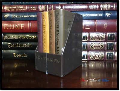 Hobbit & Lord of the Rings Trilogy Tolkien Sealed Deluxe Boxed Set Leather Feel