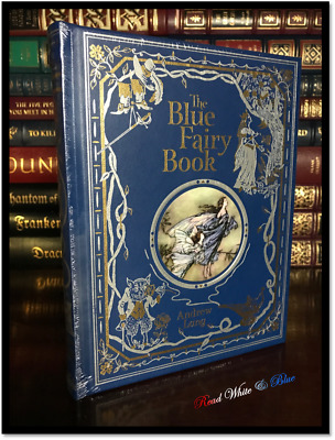The Blue Fairy Book by Andrew Lang Sealed Illustrated Leather Bound Gift Edition