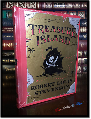 Treasure Island by Stevenson & Illustrated N.C. Wyeth Sealed Leather Hardback