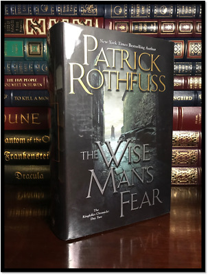 The Wise Man's Fear ✎SIGNED✎ by PATRICK ROTHFUSS New Hardback Kingkiller Book 2