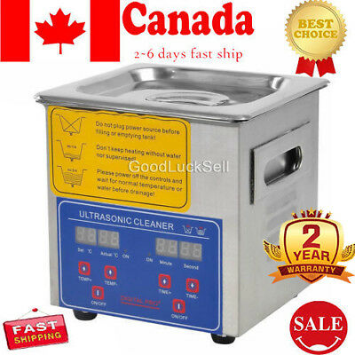 Stainless Steel 2 L Liter Industry Heated Ultrasonic Cleaner Heater w/Timer 110V