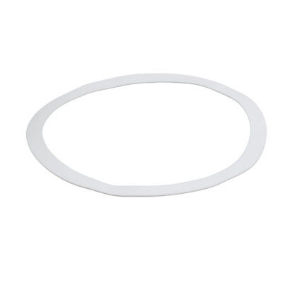 DN300 325mmx378mmx3mm PTFE Flat Washer Gasket White