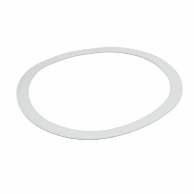 DN250 273mmx322mmx3mm PTFE Flat Washer Gasket White