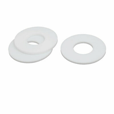 DN20 25mmx58mmx3mm PTFE Flat Washer Gasket White 3pcs