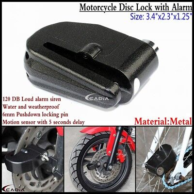 New Motorcycle Bicycle Scooter Anti-theft Brake Disc Black Disk Wheel Alarm Lock