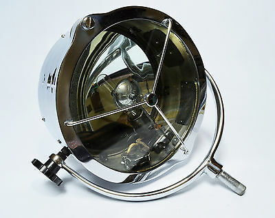 "Genuine antique marine chrome 11"" searchlight by Francis Searchlights, 1940s"