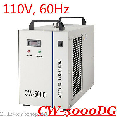 110V 60Hz S&A CW-5000DG Industrial Water Chiller for 80W/100W CO2 Laser Tube