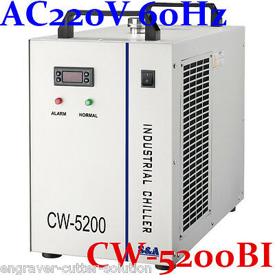 S&A AC220V 60Hz 0.68HP CW-5200BI Industrial Water Chiller for Laser Tube & Laser