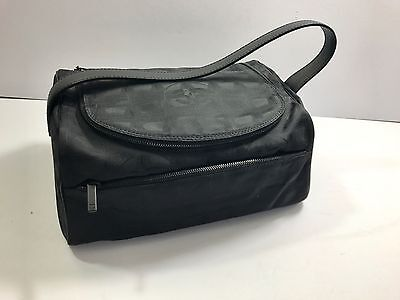 CHANEL BAG BLACK  travel cosmetic fabric bag ... IN AMAZING USED CONDITION...