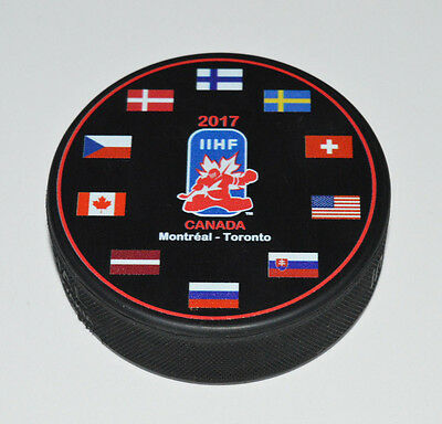 2017 IIHF WORLD JUNIOR CHAMPIONSHIPS Montreal-Toronto SOUVENIR HOCKEY PUCK