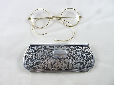 ancient eyeglasses solid gold 14k vanzina milano lateXIX glasses  ITALY occhiali