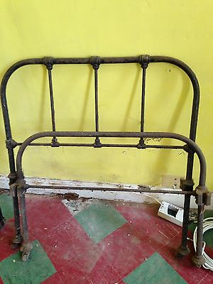 Old Single Metal Bed Frame