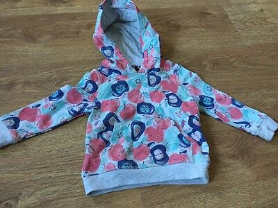 George Baby Girls Hooded Jumper Pink/Blue Age 12-18 Months