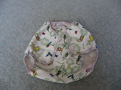 motherease airflow nappy wrap, large size, rainforest pattern