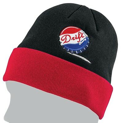 Drift Racing Unbottled Cotton Knit Watchman Beanie Hat - Black & Red - 5265-500