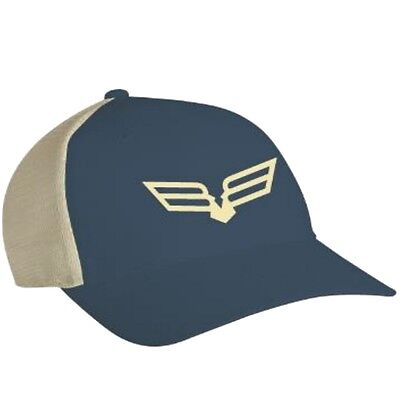 Bad Boy Off Road Trucker Bird Logo Mesh Back Cap - Polyester & Cotton - Blue