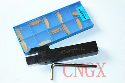 1pc MGEHR2020-5 Lathe Grooving Cut boring bar tool Holder With 10p MGMN500-M