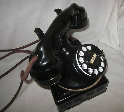 Western Electric Model 102 Round Base 1920s Desk Telephone