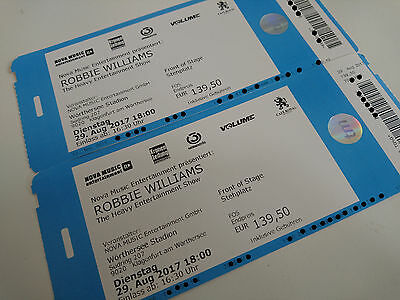 Robbie Williams Front of Stage Stehplatz Ticket - Klagenfurt 29.08.2017