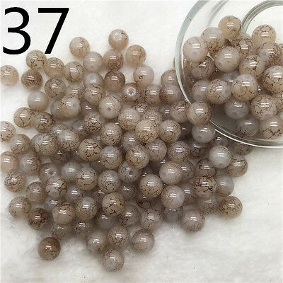 6mm/50pcs Beautiful Round Glass Spacer Charm Beads Jewelry Making Finding 37