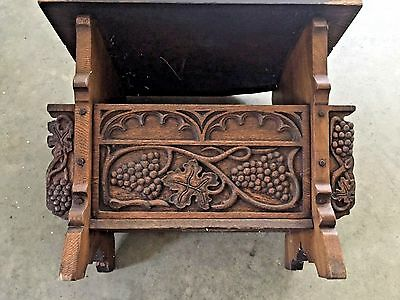 1910's California Angelus Misson Spanish Oak End Table For Restoration Or Repair