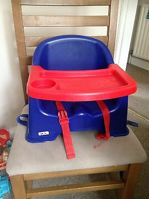 BLUE BOOSTER SEAT Baby/Toddler/Child Feeding Nursery Home Travel Seat