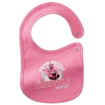 Arctic Cat Baby Infant From Bottle To Throttle Bib - Pink & White - 5273-118
