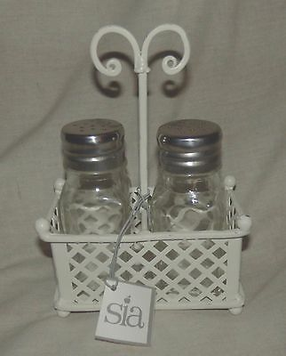 Beautiful cruet set by Sia with basket - new unused