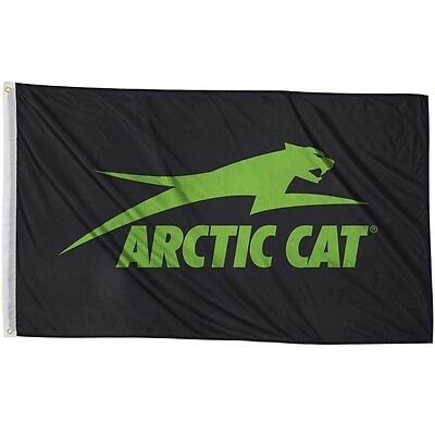 Arctic Cat Nylon 3 x 5 Aircat Flag - Black & Green - 5283-082