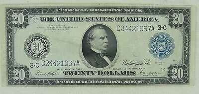 1914 20 Dollar Federal Reserve Note * Philadelphia Pa. Nice Shape *