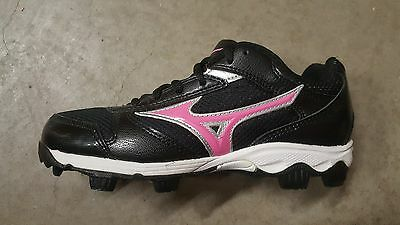Mizuno Finch Franchise 4 Softball Cleats Black/Pink 320394.9013 Brand New in Box