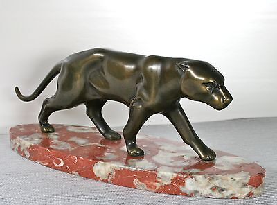 ART DECO STATUE ca. 1930 PANTHER