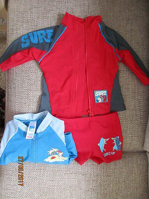RED 2 PIECE SWIMSUIT  12-18 months