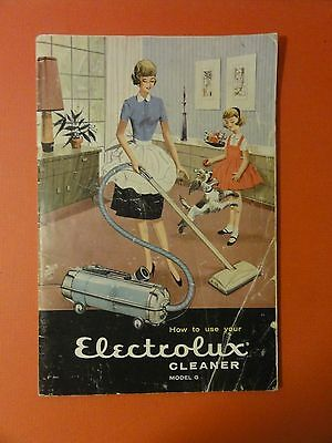 how to use 1960 Electrolux Vacuum Cleaners Vintage booklet brochure cool graphic