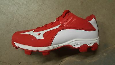 Mizuno 9-Spike Adv. Youth Franchise 8 Molded Cleats Red/White 320507.1000