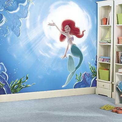 Roommates The Little Mermaid 'Part of your World' XL Chair Rail Prepasted Mural