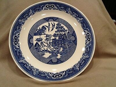 Blue Willow Round Platter By Royal  12-1/4 inch  Vintage