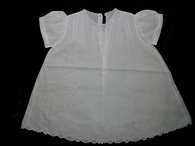 Vintage PEMAE Baby Doll White Embroidered Cotton Dress Philippines 6 months