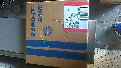 """Band It C204 201 Stainless Steel 1/2"""" X 100' Strapping"""