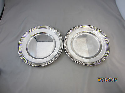 Two English Gadroon by Gorham Sterling Silver Bread and Butter Plates #180