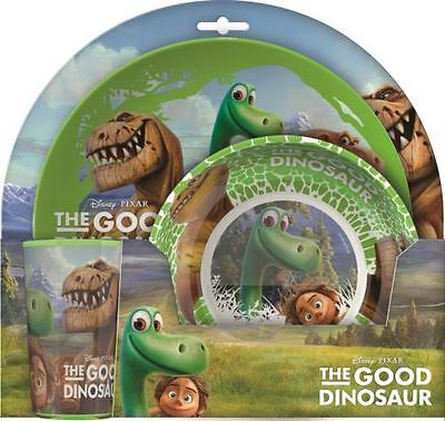 Disney The Good Dinosaur | Arlo Spot Melamine Tumbler, Bowl & Plate Mealtime Set