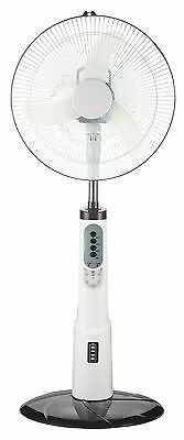 16 Inch Rechargeable Battery Oscillating Pedestal Adjustable Fan Stand PRESALE