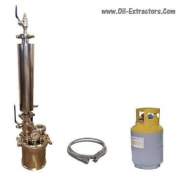 1/4 LB 120G Closed Loop Extractor W/Solvent Tank By Essential Oil Extractors USA